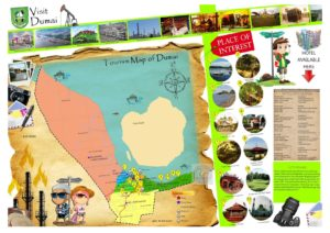 Peta tempat wisata di Dumai Riau