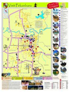 Peta tempat wisata di Kota Pekanbaru Riau