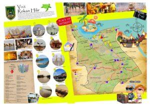 Peta tempat wisata di Rokan Hilir Riau