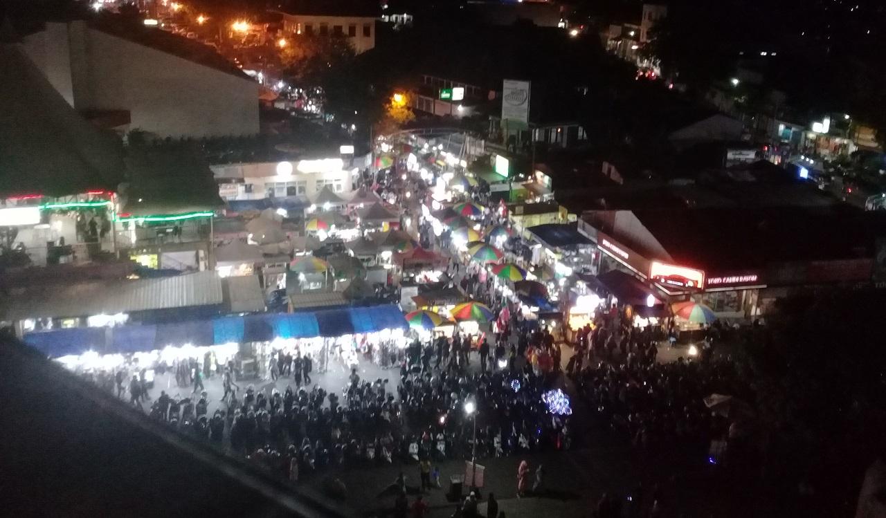 Alun-alun Batu Malang dari Bianglala