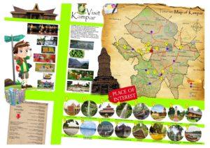 Peta tempat wisata di Kampar Riau