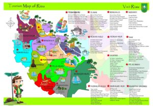 Peta tempat wisata di Riau