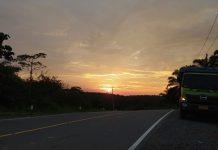 Sunset di jalan